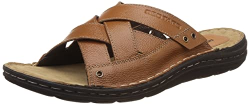 Red Tape Men's Leather Slippers Sandals & Floaters at amazon