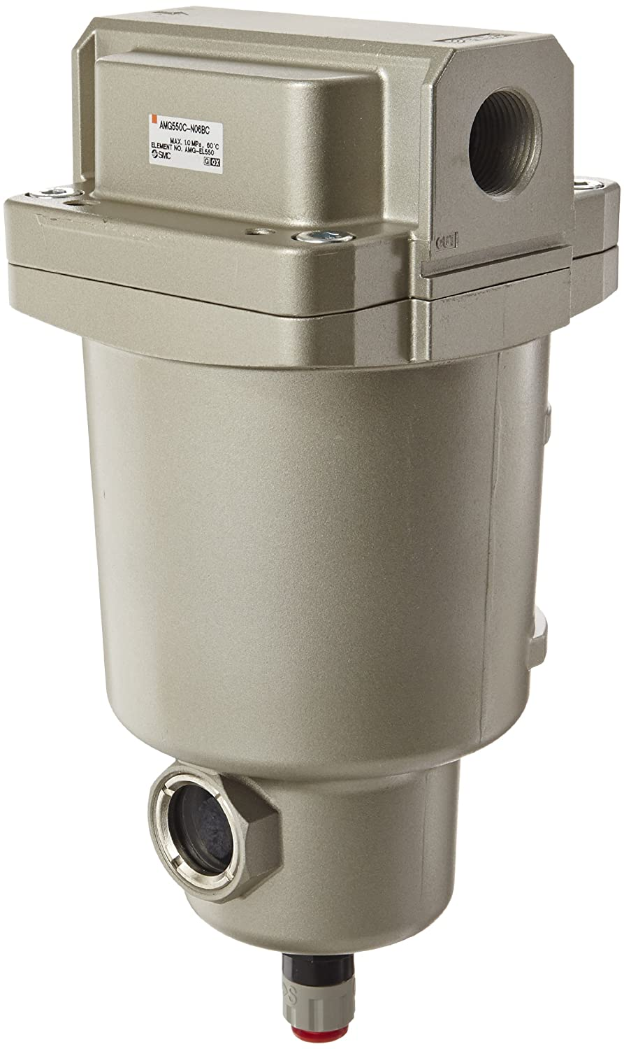 SMC AMG550C-N06BC Water Separator, N.C. Auto Drain, 3,700 L/min, 3/4 NPT, Mounting Bracket by SMC Corporation B009VQ0QOY