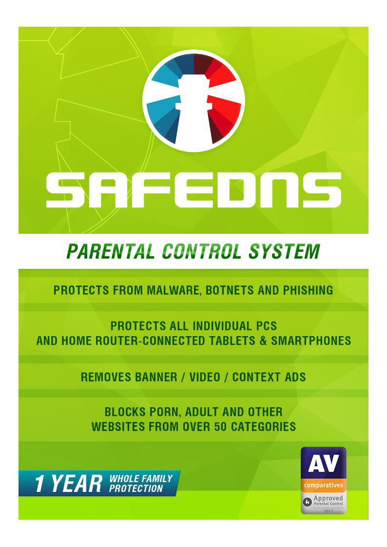 SafeDNS Home, 1 Year License [Online Code]