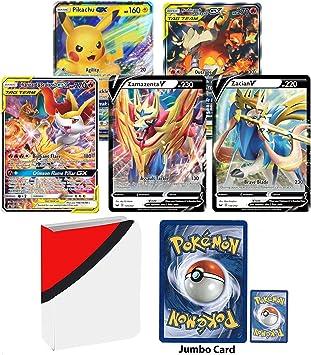 Amazon.com: 5Tarjetas Pokemon Oversized Jumbo EX Promo ...