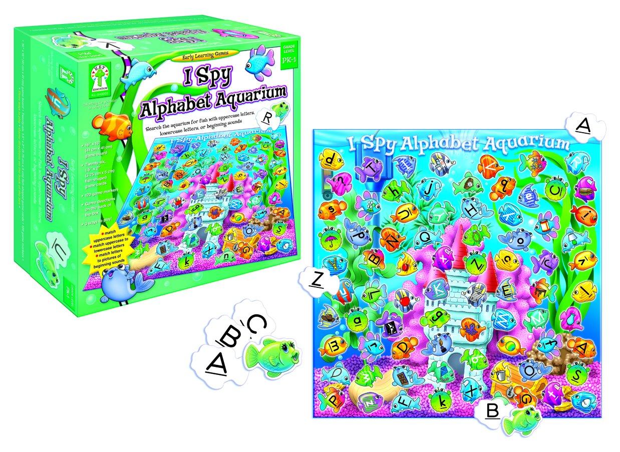 Fish for aquarium games - Amazon Com I Spy Alphabet Aquarium Search The Aquarium For Fish With Uppercase Letters Lowercase Letters Or Beginning Sounds Key Education Publishing