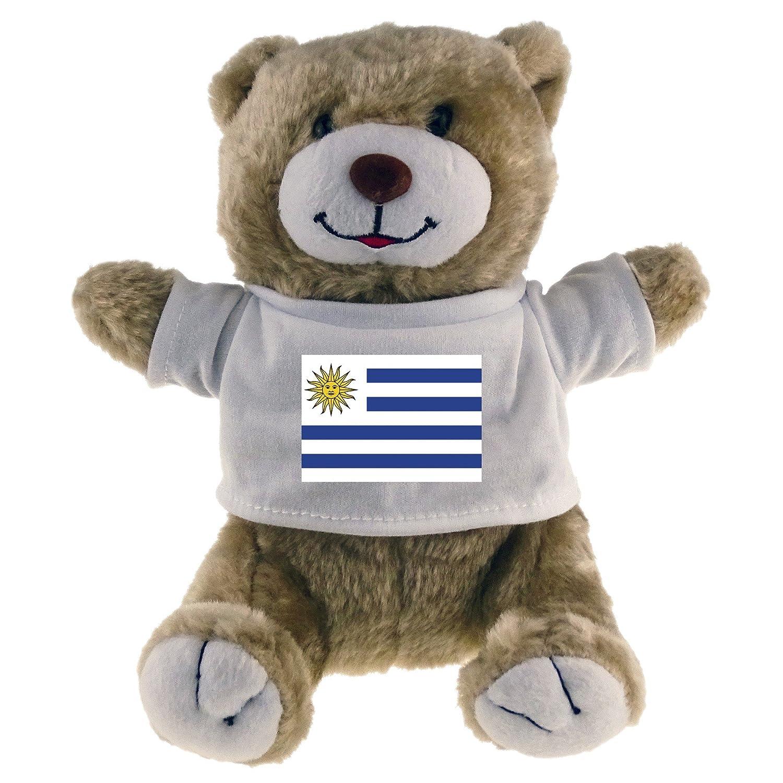 Oso de peluche con bandera de Uruguay Classic Beige: Amazon.es: Deportes y aire libre