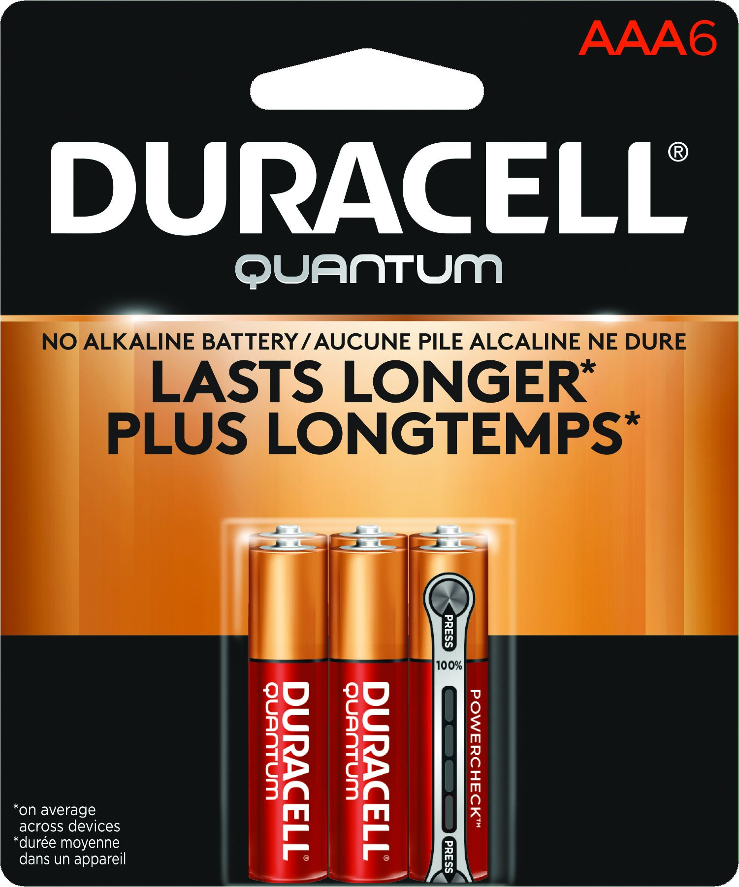 duracell quantum alkaline aa batteries 6 count health personal care. Black Bedroom Furniture Sets. Home Design Ideas