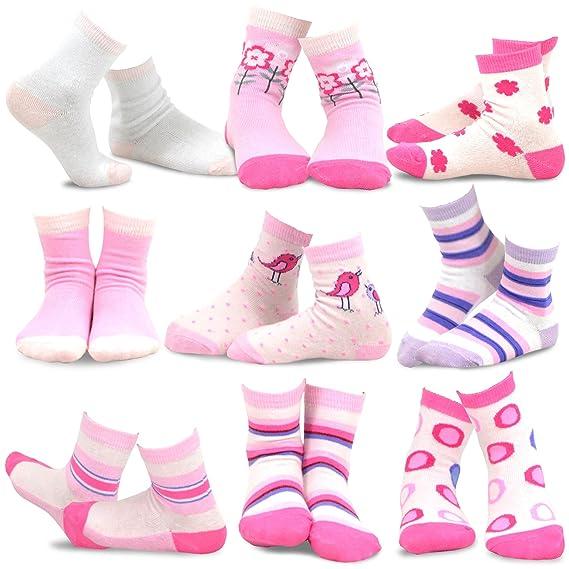 TeeHee Kids Girls Fashion Cotton//Micro Fiber Nylon Tights 3 Pair Pack