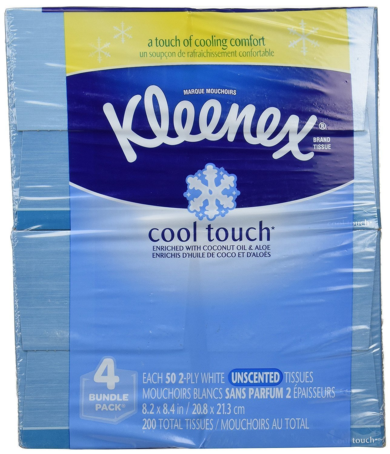 Kleenex 700690401841 Cool Touch Tissues, Upright-50 ct-16 pk, 16 Pack, no, 16 Pack