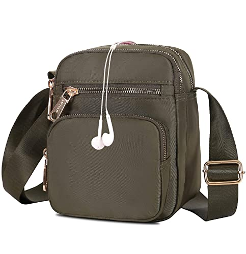 3c6134b23d86 Small Crossbody Purse for Women, Mini Travel Nylon Shoulder Bag Cell Phone  Purse Smartphone Wallet with Multi Zipper Pockets