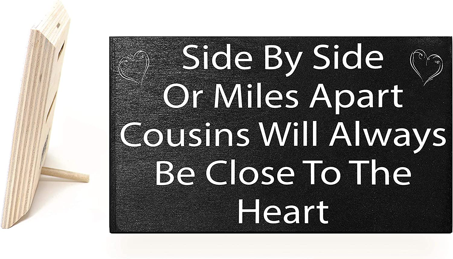 JennyGems | Side by Side Or Miles Apart Cousins Will Always Be Close to The Heart | Wood Sign | Made in USA