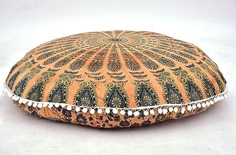 Amazon.com: Funda de almohada de estilo mandala, tamaño ...