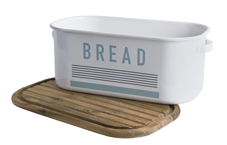 White//Brown Jamie Oliver JB8901 Elegant Bread Bin