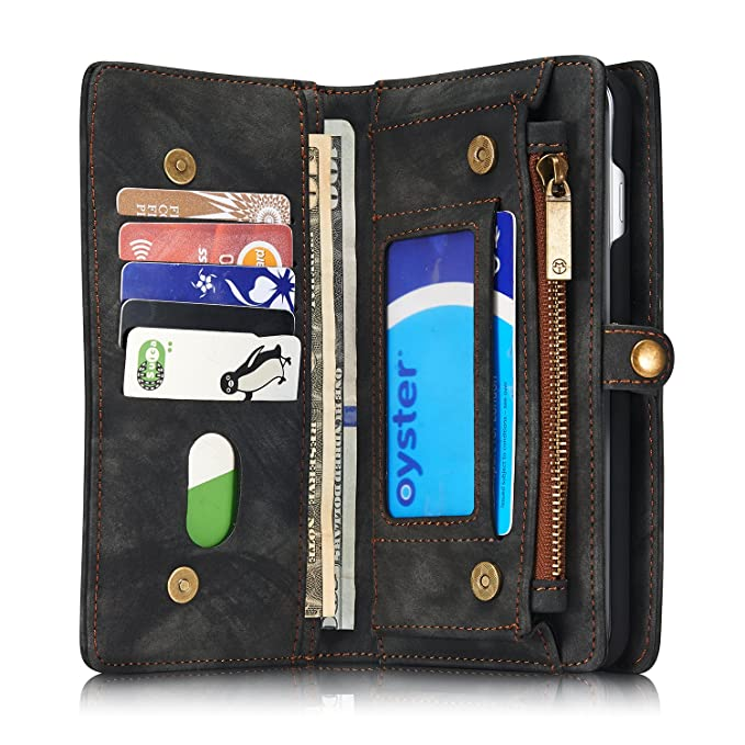 Amazon.com: iPhone 7 Plus / 8 Plus Wallet Case, Folio Zipper ...