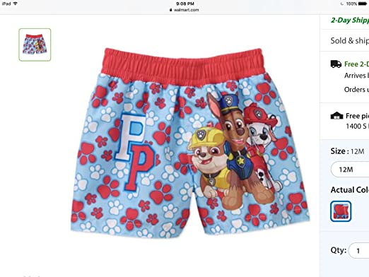 cf1f92012f Amazon.com: Paw Patrol Swim Trunk: Clothing