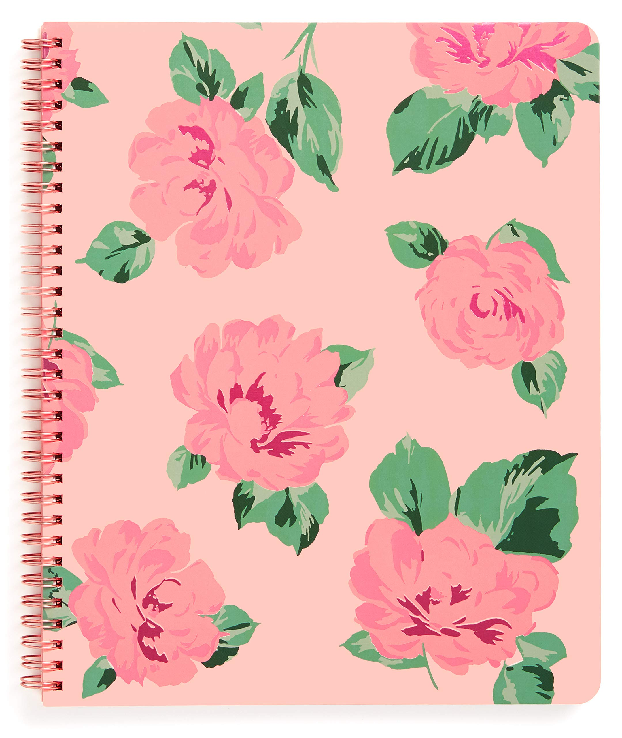 ban.do Rough Draft Large Spiral Notebook, 11'' x 9'' with Pockets and 160 College Ruled Pages, Bellini