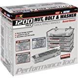 Performance Tool   W5226 1200pc Nut & Bolt Assortment