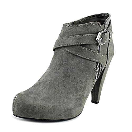 G by Guess Womens Taylin2 Closed Toe Ankle Fashion Boots Dark Gray Size 7.0
