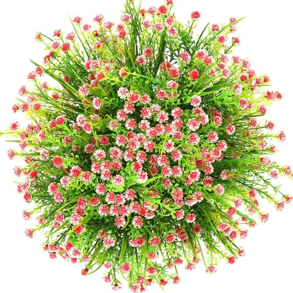 Orange Rot CQURE k/ünstliche Blumen,Unechte Blumen K/ünstliche Deko Blumen Schleierkraut kunstblumen Braut Hochzeitsblumenstrau/ß f/ür Haus Garten Party Blumenschmuck 5 St/ück.