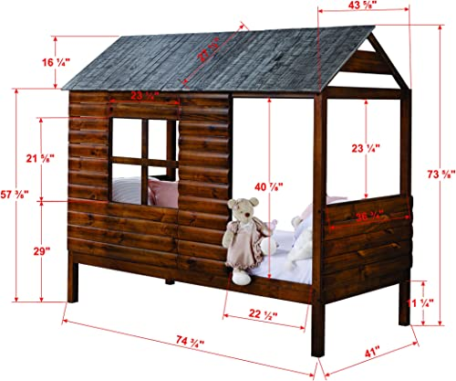 DONCO Twin Log Cabin LOW LOFT