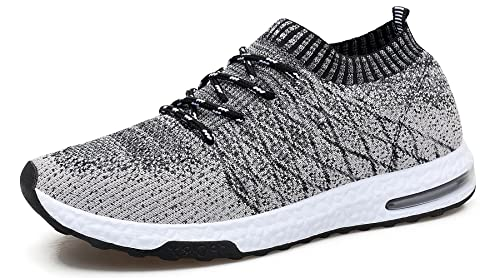 f2dd91d765a WELMEE Men's Knit Breathable Comfortable Sneakers Lightweight Athletic  Tennis Walking Running Shoes