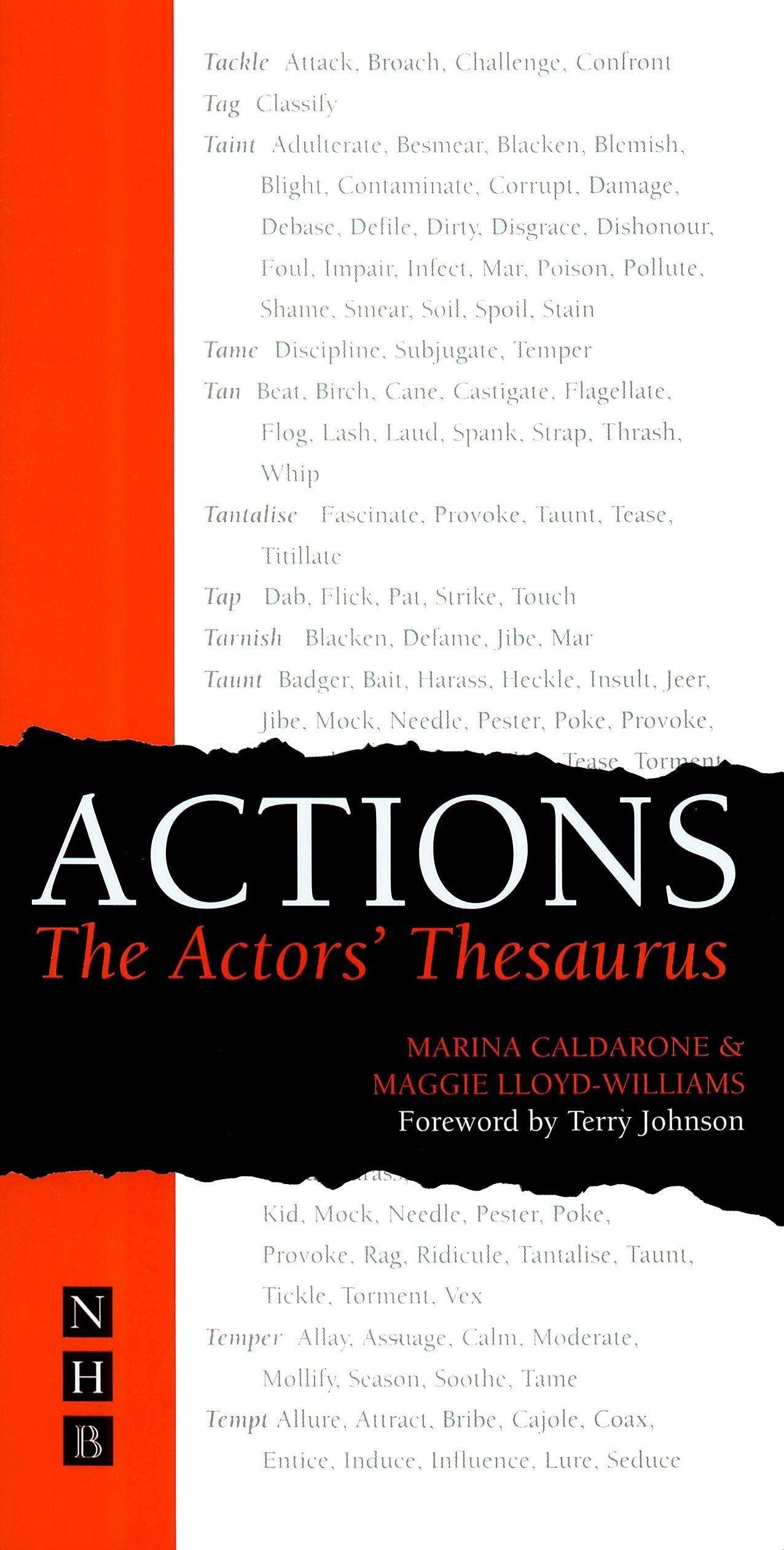Actions The Actors Thesaurus Amazoncouk Marina Caldarone