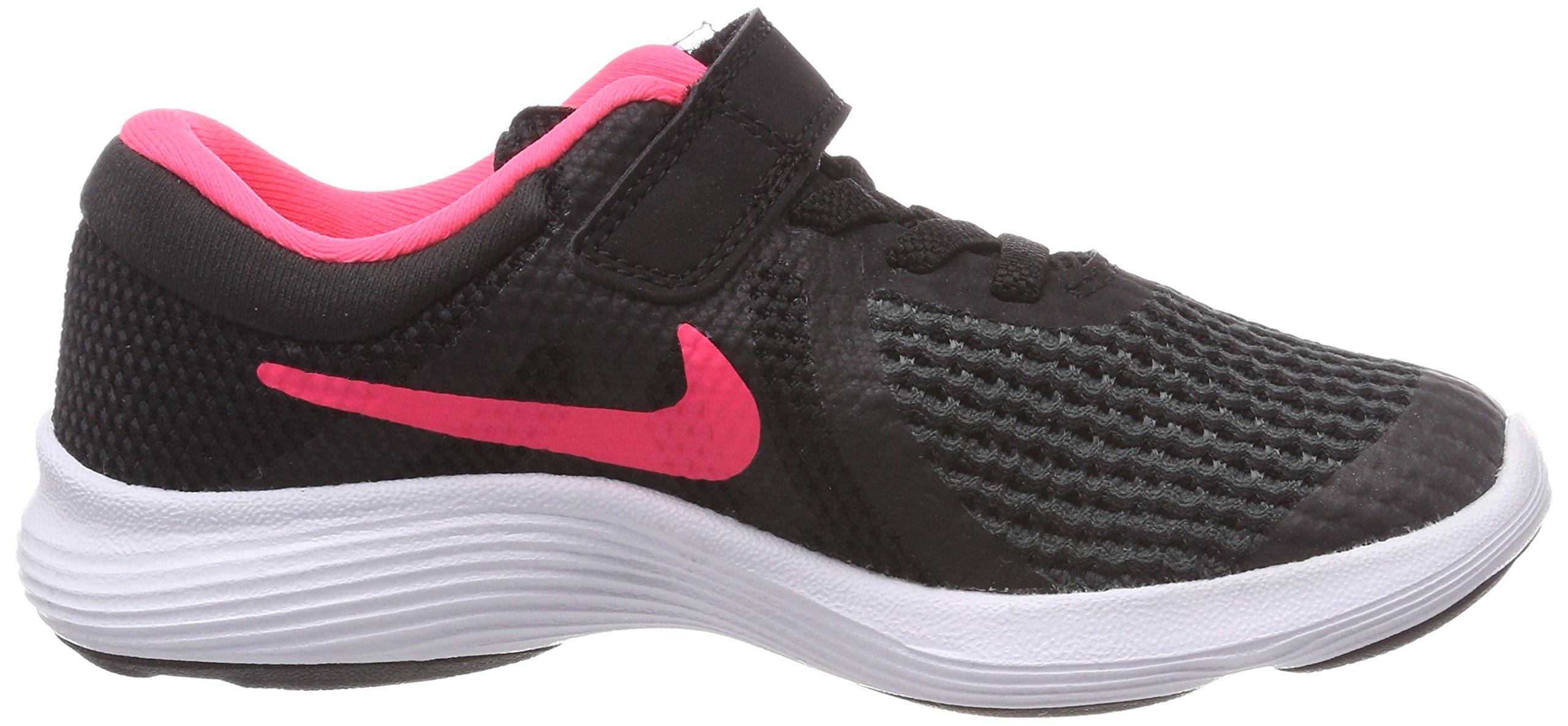 Nike Girls' Revolution 4 (PSV) Running Shoe, Black/Racer Pink - White, 11.5C Regular US Little Kid by Nike (Image #6)