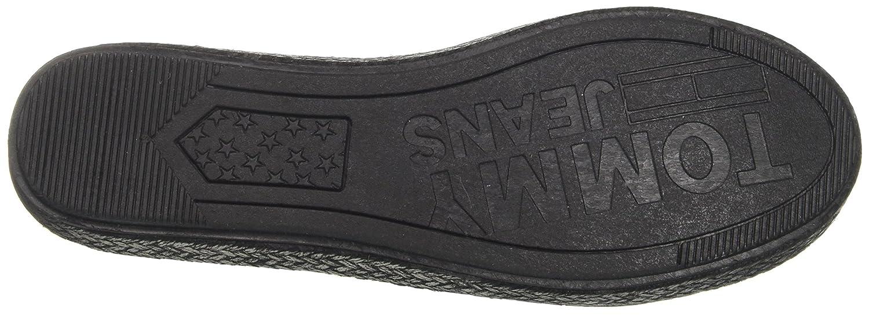 Hilfiger Slip Denim Damen Flexible Casual Slip Hilfiger On Espadrilles Schwarz (schwarz 990) 83bc11