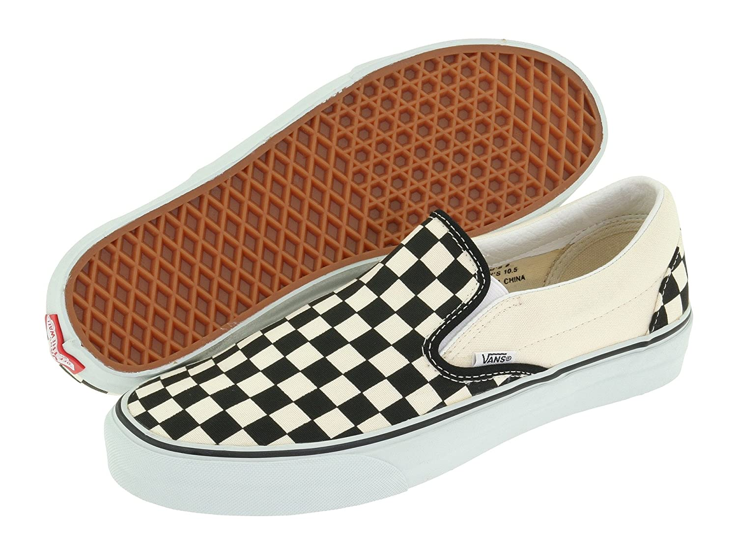 [バンズ] VANS スニーカー Classic Slip-on B073LP6SCY 8 B(M) US Women / 6.5 D(M) US Men|Checker Black/True White Checker Black/True White 8 B(M) US Women / 6.5 D(M) US Men