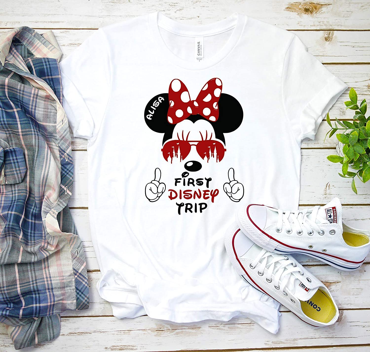 Disney Vacation Minnie Mickey Mouse Birthday Matching T-shirts Party Family Kid