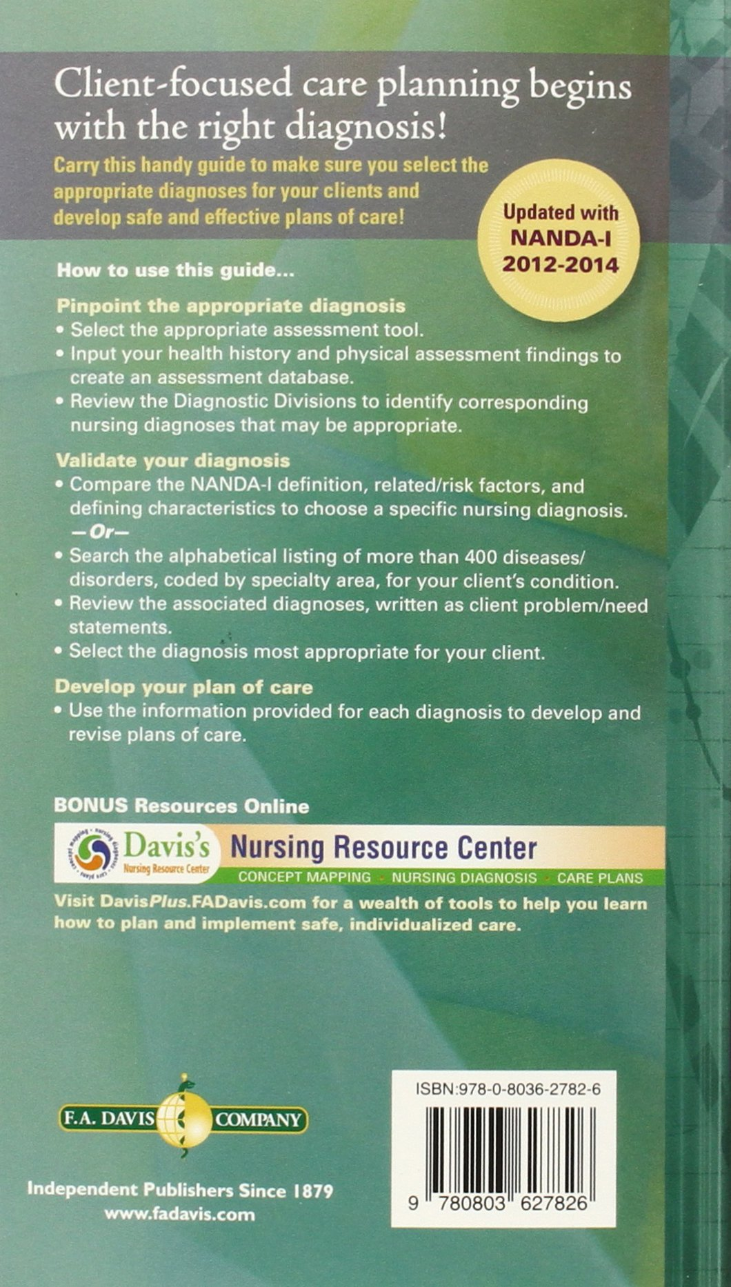 Nurse's Pocket Guide: Diagnoses, Prioritized Interventions and Rationales:  Marilynn E. Doenges APRN BC-retired, Mary Frances Moorhouse RN MSN CRRN, ...