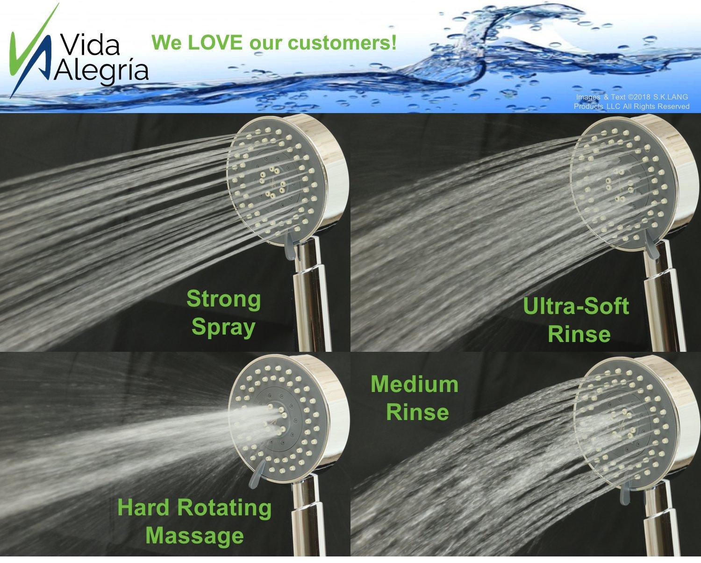 Vida Alegria UBERMIST 2.5GPM Handheld Shower Head with Steel Hose ...