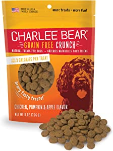 Charlee Bear Grain Free Crunch Natural Treats for Dogs, Made in the USA, Low Calorie Treats for Training or Treating