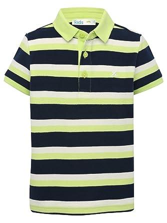 M&Co - Polo - Polo - Rayas - Polo - Manga corta - para niño verde ...