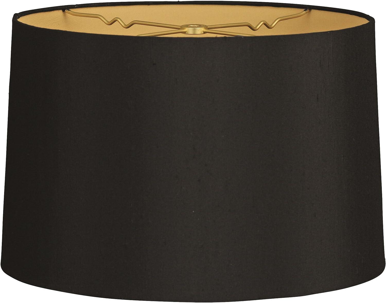 fester R/ücken Royal Designs Lampenschirm flaches Trommel beige 9 x 10 x 7