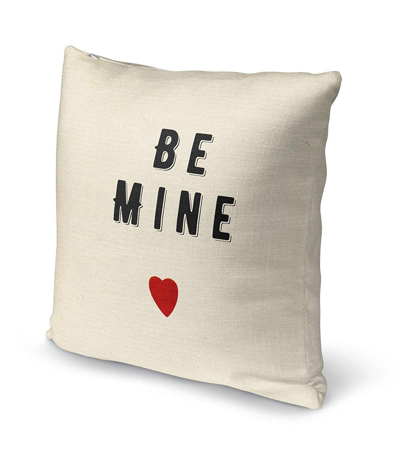 KAVKA Designs Be Mine Accent Pillow, - TRADITIONS Collection Size: 18X18X6 - TELAVC8150DI18 Black//Red