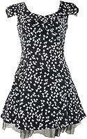 Butterfly Cap Sleeve Mini Dress Black - Size 8-16