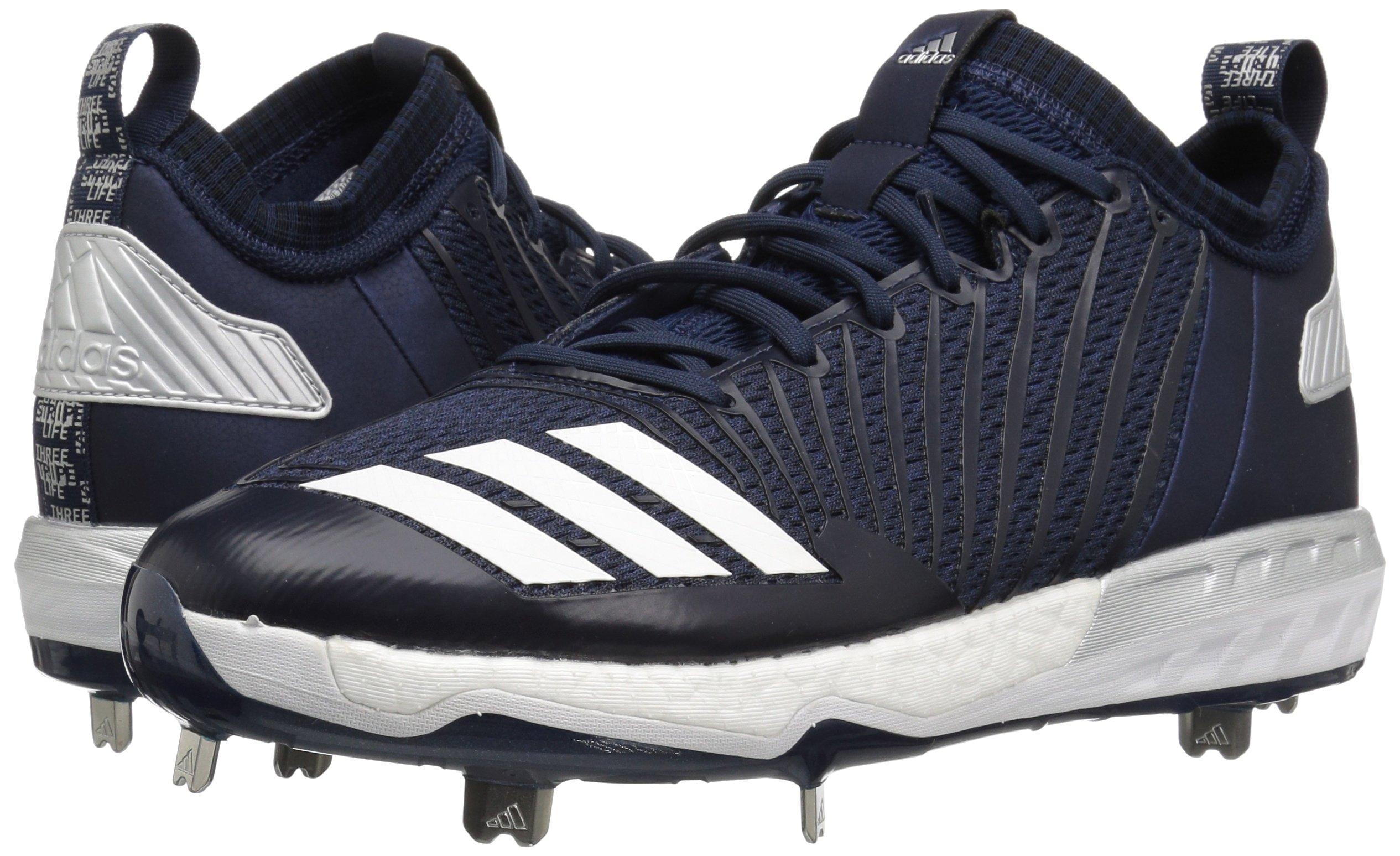 adidas Men's Freak X Carbon Mid Baseball Shoe, Collegiate Navy/White/Metallic Silver, 8 Medium US by adidas (Image #6)