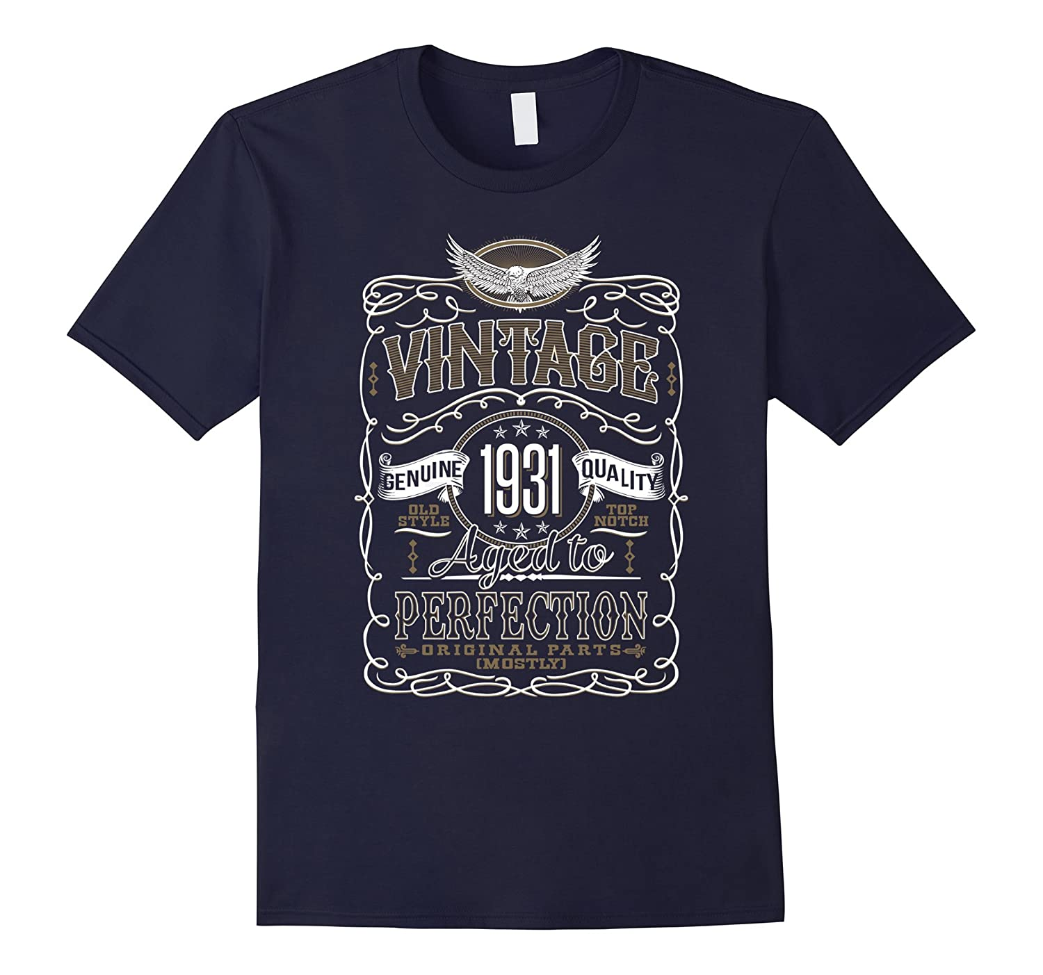 Vintage 1931 86th Birthday 86 Aged of Perfection Tshirt-TD