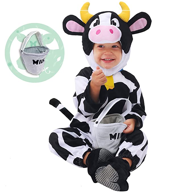 29fbabe7d Amazon.com: Spooktacular Creations Baby Cow Costume (12-18 Months) White:  Clothing