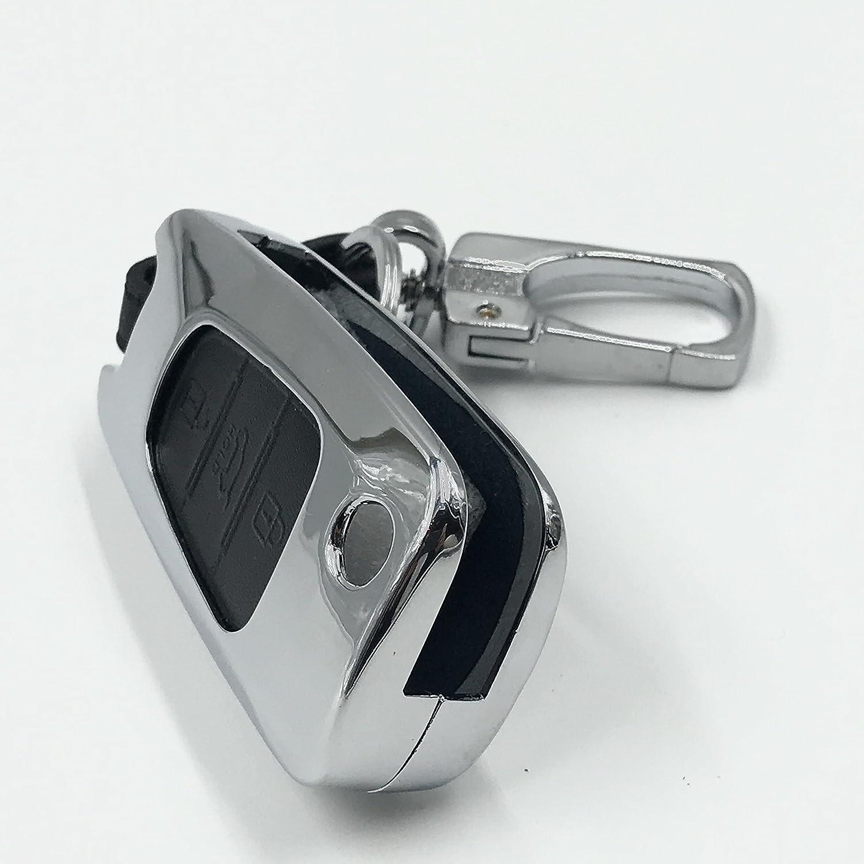 Porte-cl/és Bo/îtier pliable Hyundai et Kia Bo/îtier pour cl/és de voiture Accessoire en alliage de zinc et cuir naturel