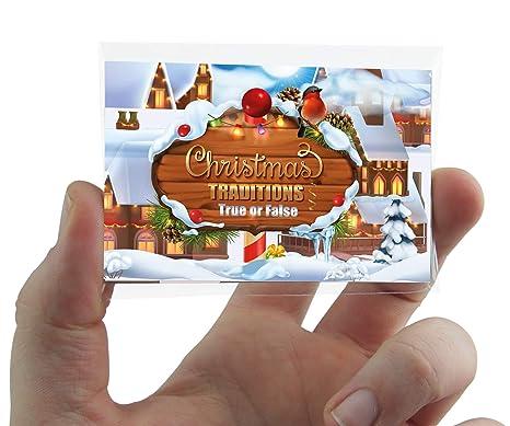 Christmas Traditions Pocket quiz gioco di carte con True false ...