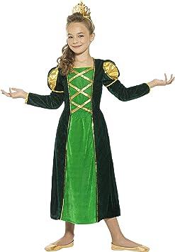 Smiffys-44900L Disfraz de Princesa Medieval, con Vestido y Corona ...