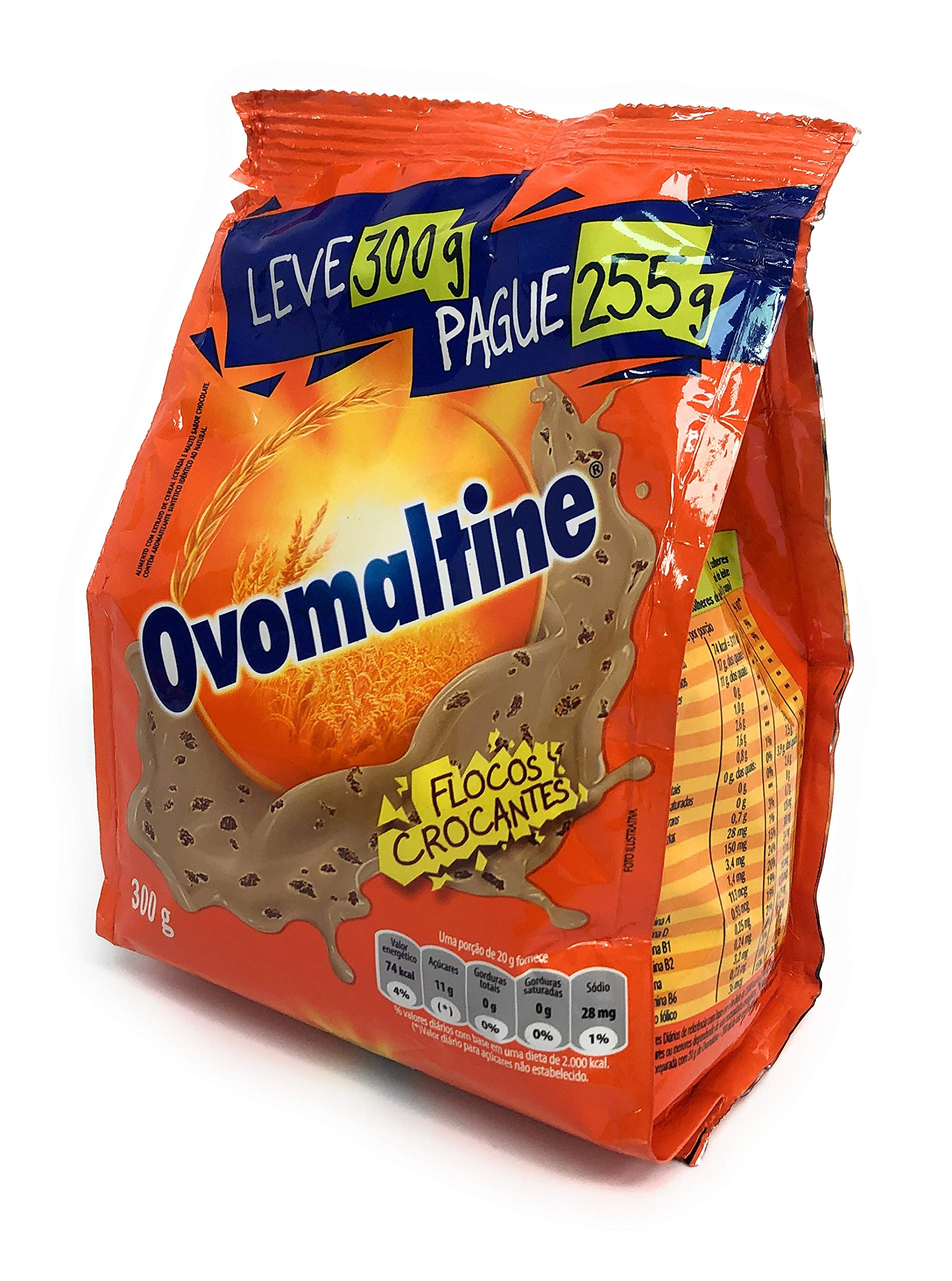 Ovomaltine - Malt Extract w/Chocolate - Beverage mix - Chocolate flakes - 10.58 oz.| Extrato e Malte Sabor Chocolate - Mistura para Bebidas - Achocolatado em Flocos - 300g