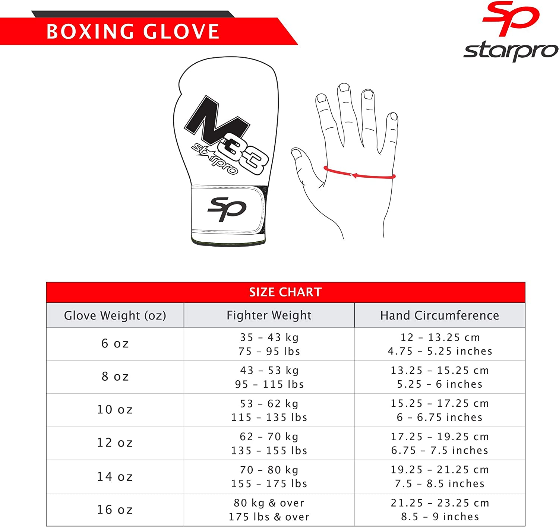 Ideales para Kickboxing Training Grappling Sparring Entrenamiento para Hombres y Mujeres 8oz 10oz 12oz 14oz 16oz Starpro Guantes de Boxeo Muay Thai Negro y Verde