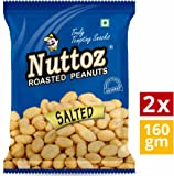 Nuttoz Salted Roasted Peanuts 160gm (Pack of 2)
