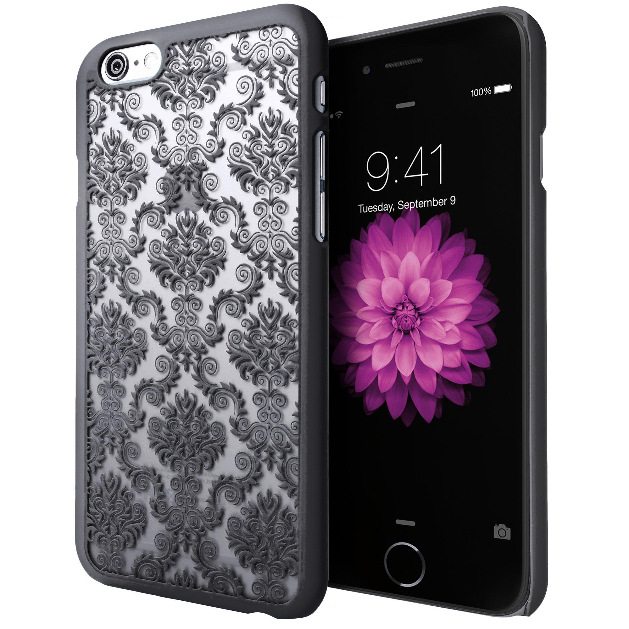 iPhone 6S Plus Case, Cimo [Damask] Apple iPhone 6 Plus Case Design Pattern Premium ULTRA SLIM Hard Cover for Apple iPhone 6S/6 Plus - Black