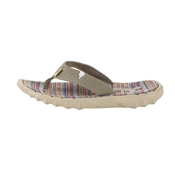 Dude Shoes Herren Damen Sava Grau Zitrone Leinwand Flip Flop EU42/EU43 YnuyG