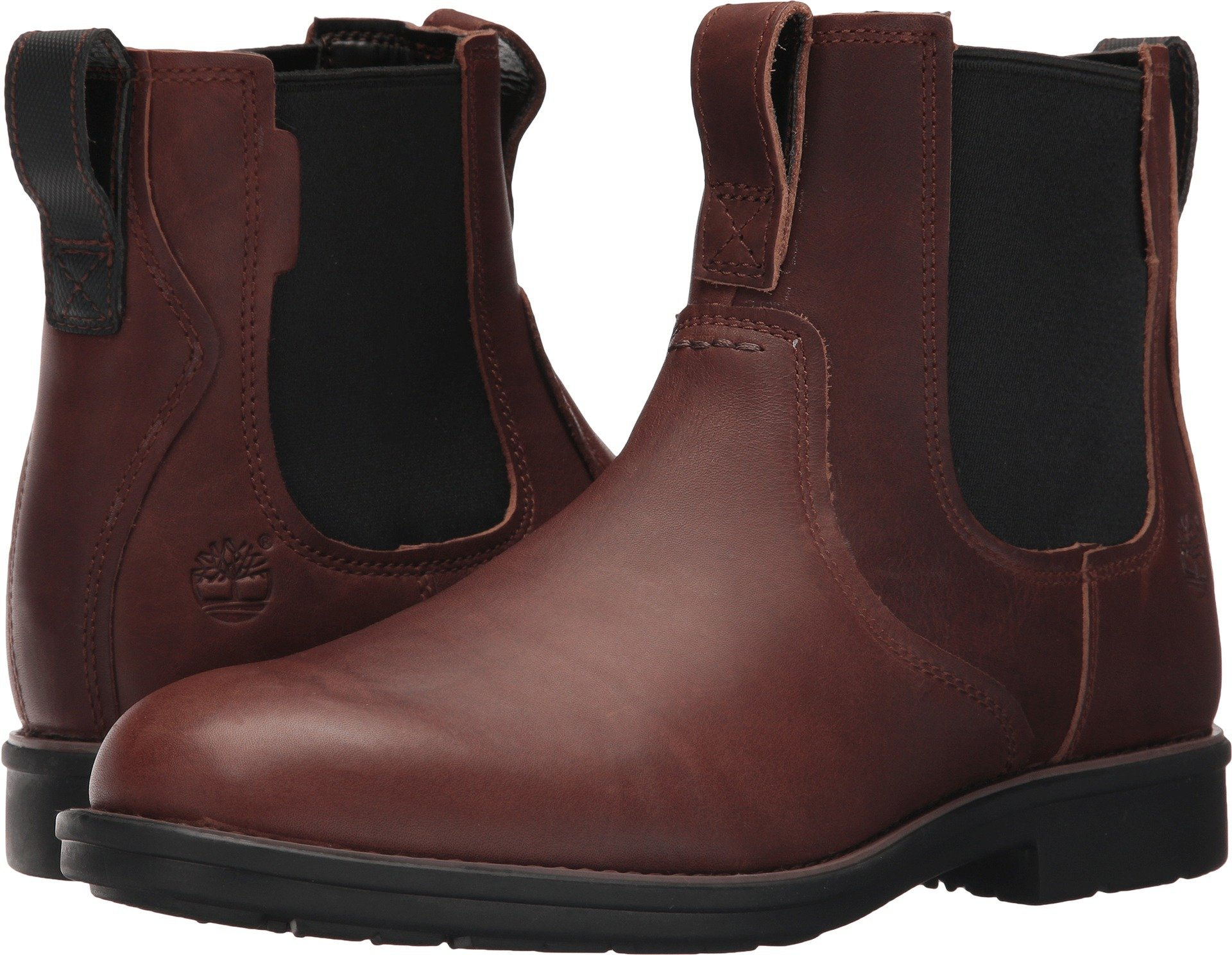 Timberland Men's Carter Notch Chelsea Boot, Dark Brown Full Grain, 11 D(M) US