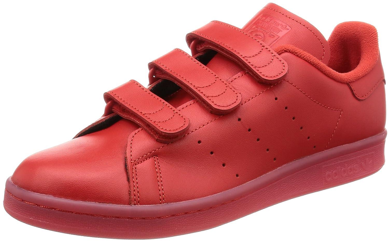 Rouge - Rouge adidas Stan Smith CF, Basket Mixte Adulte