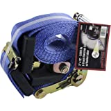 "Erickson 58523 E-Track Ratchet Strap (with Roller Idler, 2"" Wide x 12' Long, 3300 lb Load Capacity)"