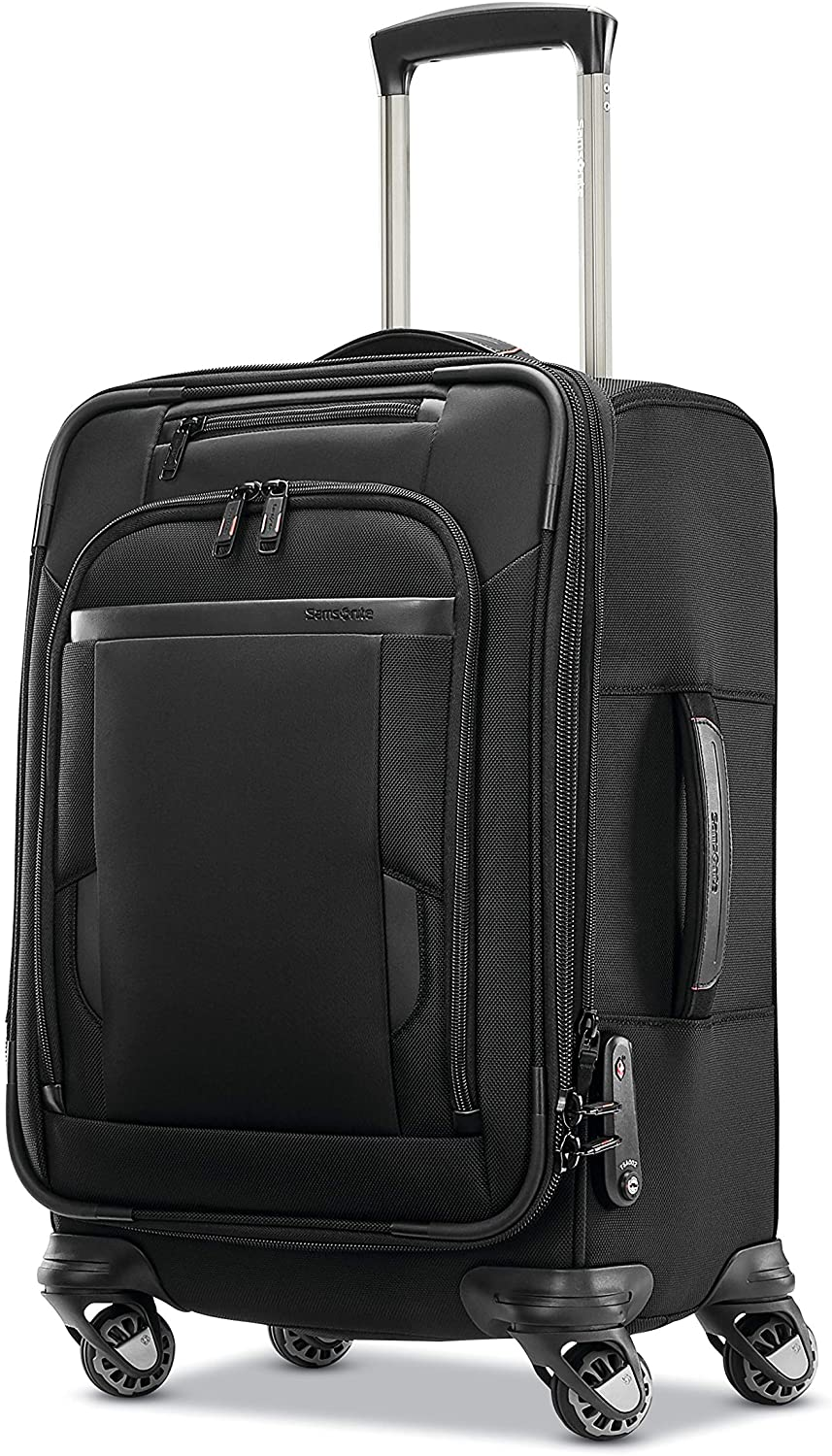 Samsonite Pro Travel Softside Expandable Luggage with Spinner Wheels, Black, Carry-On 21-Inch