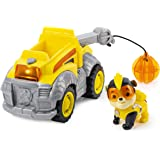 Paw Patrol 6054650 Mighty Pups Super Paws Rubble's Deluxe Vehicle with Lights and Sound (2019)