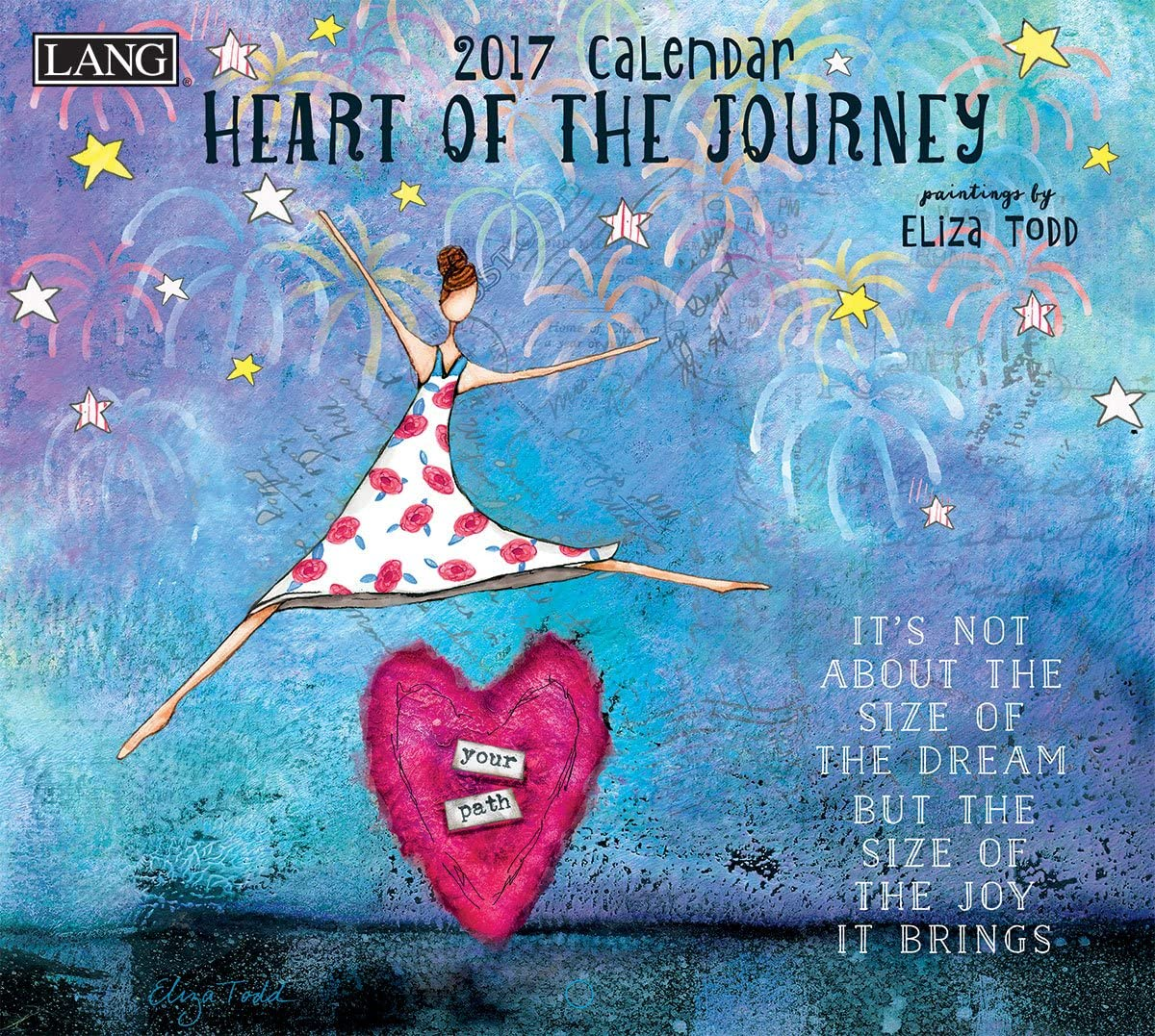 Lang 2017 Heart of The Journey Wall Calendar, 13.375 x 24 inches (17991001983)